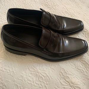 Hugo Boss Men's Size 10 Dress Loafer Dark Brown